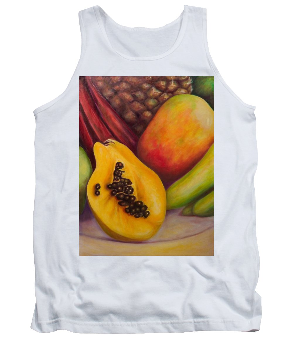 Tropical Fruit Still Life: Mangoes Tank Top featuring the painting Solo by Shannon Grissom