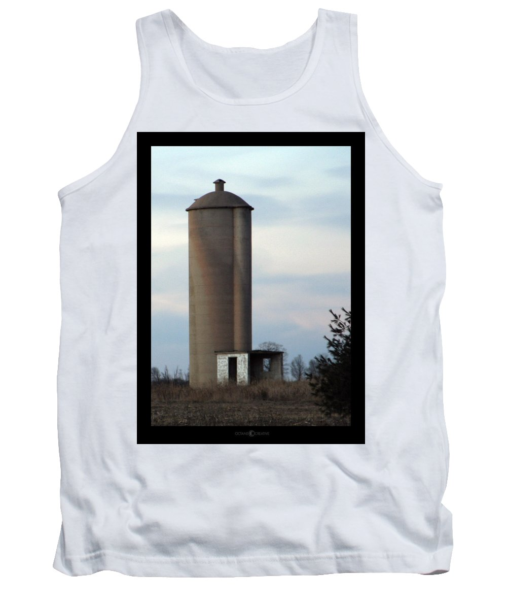 Silo Tank Top featuring the photograph Solo Silo by Tim Nyberg