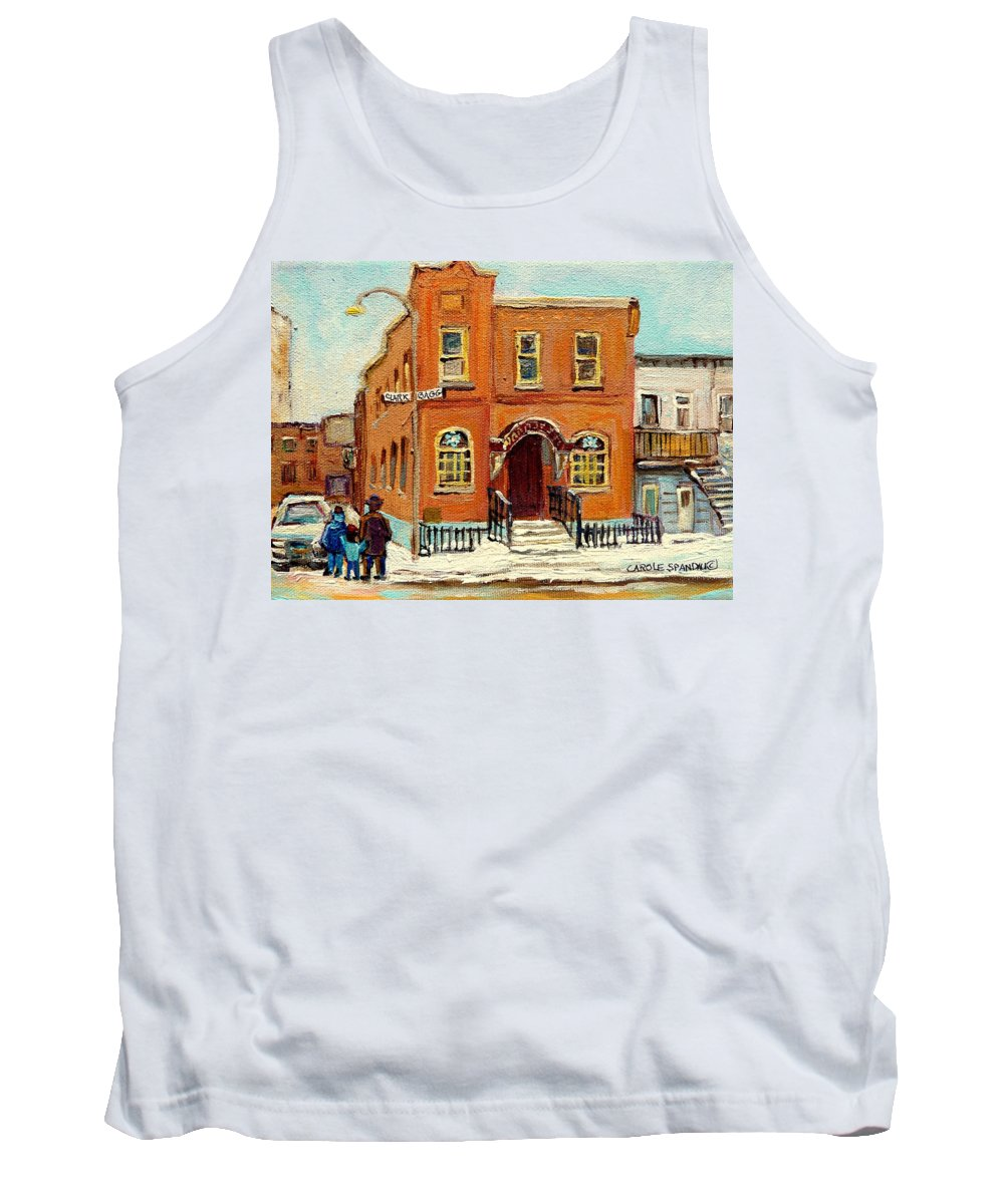 Bagg Street Synagogue Tank Top featuring the painting Solomons Temple Montreal Bagg Street Shul by Carole Spandau