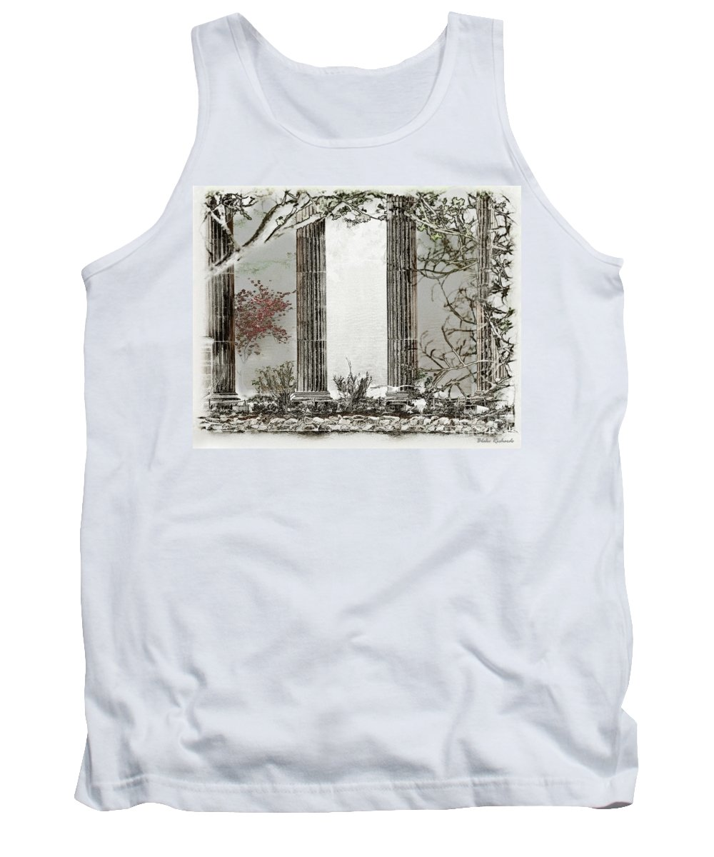 Art Photography Tank Top featuring the photograph Solorised Pillars by Blake Richards