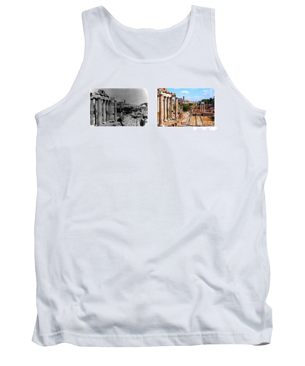 Rome Tank Top featuring the photograph Some Things Don't Change - A Photo I Took In 1972 Vs One I Took In 2007 by Thomas Marchessault