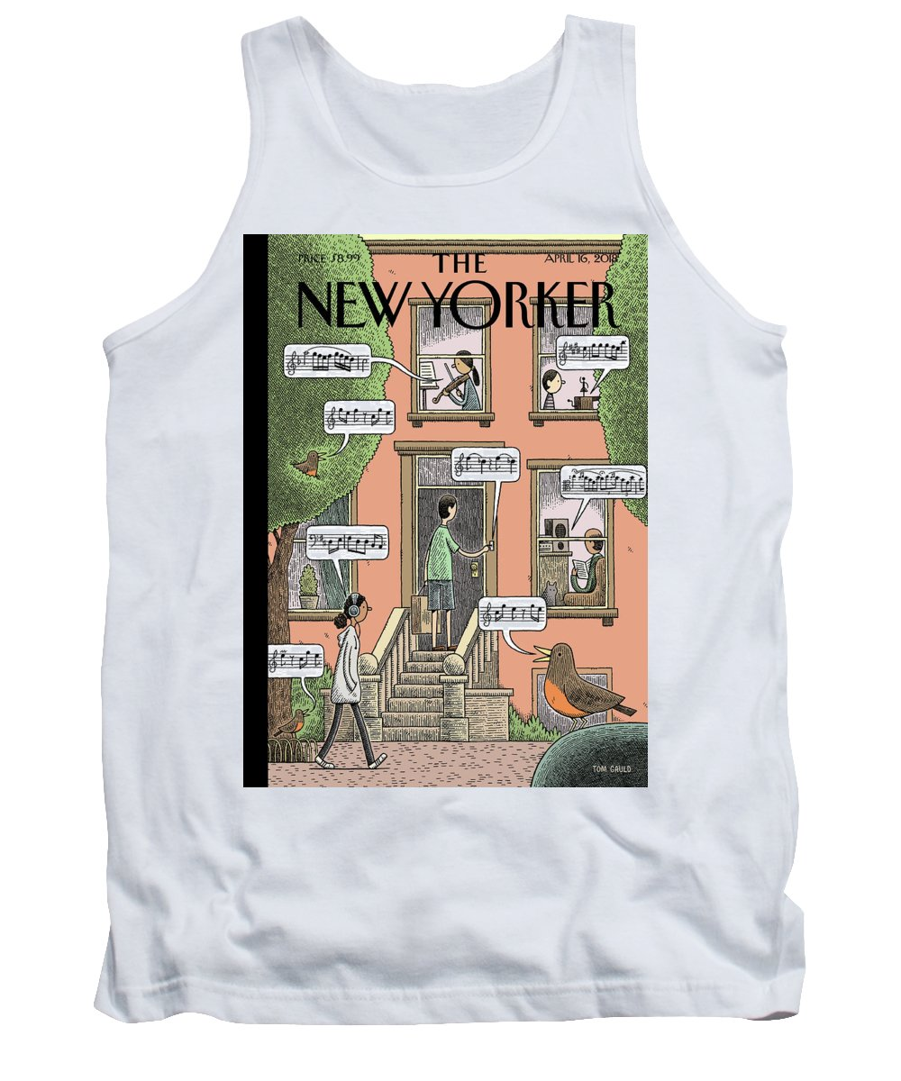Soundtrack To Spring Tank Top featuring the painting Soundtrack to Spring by Tom Gauld