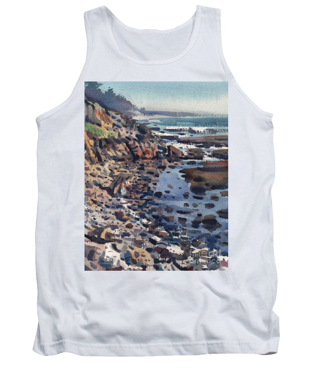 Pacific Tank Top featuring the painting South To Pigeon Point by Donald Maier