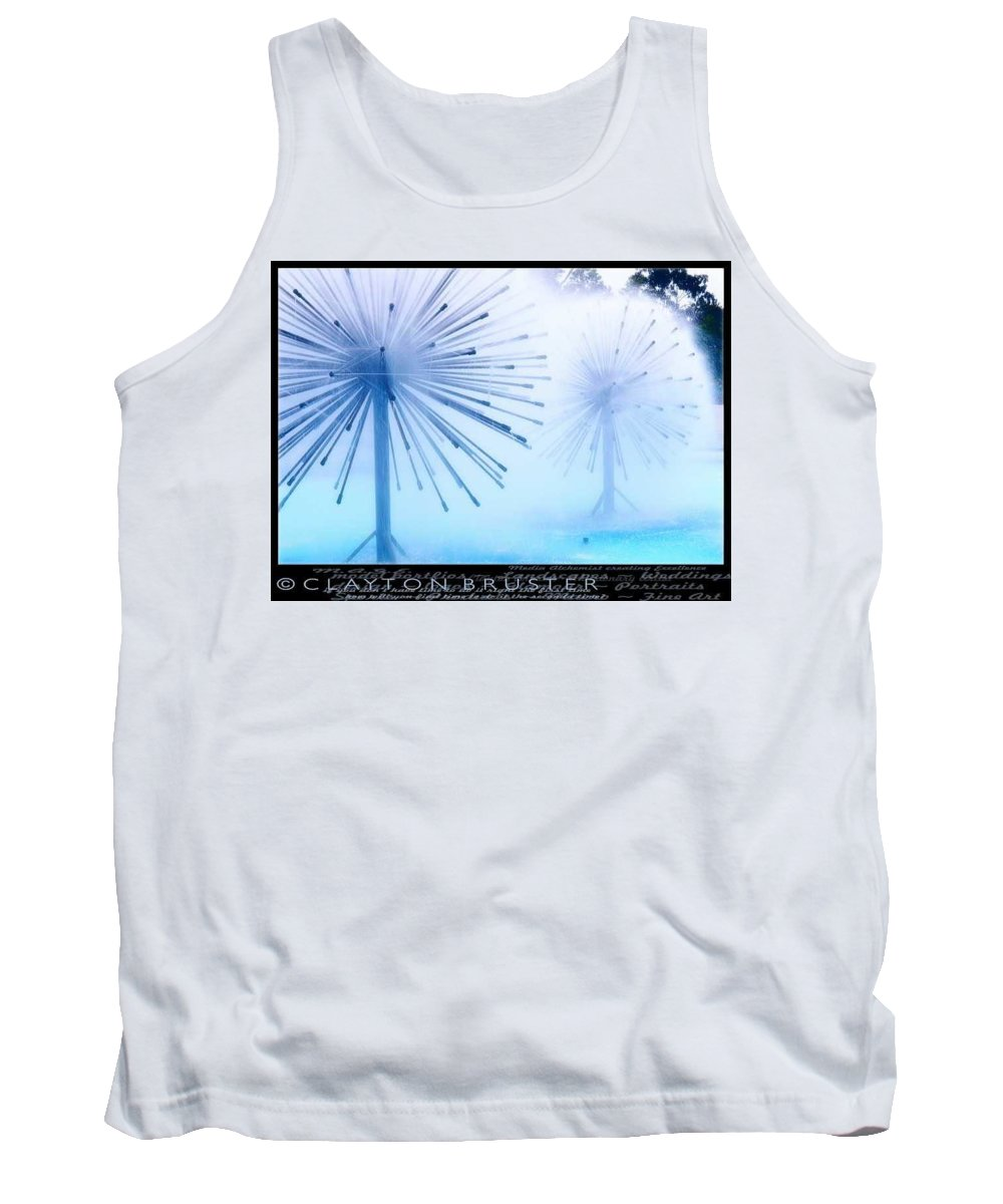 Clay Tank Top featuring the photograph Southern California Fountains by Clayton Bruster
