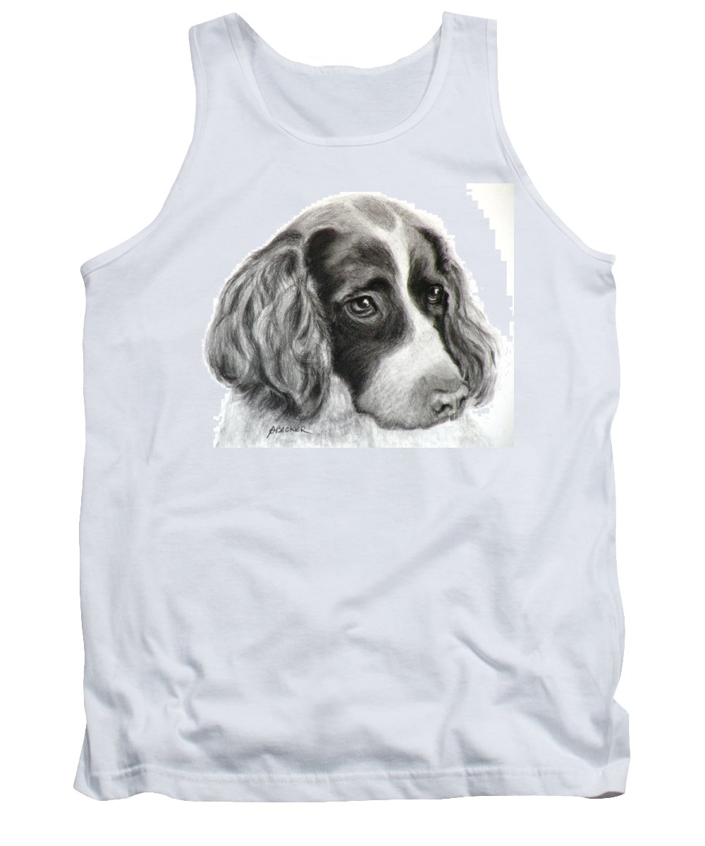 Dogs Tank Top featuring the painting Spaniel Drawing by Susan A Becker