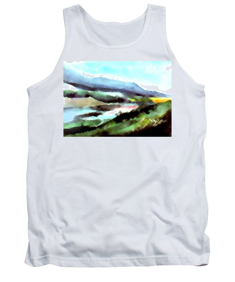 Digital Art Tank Top featuring the painting Sparkling by Anil Nene