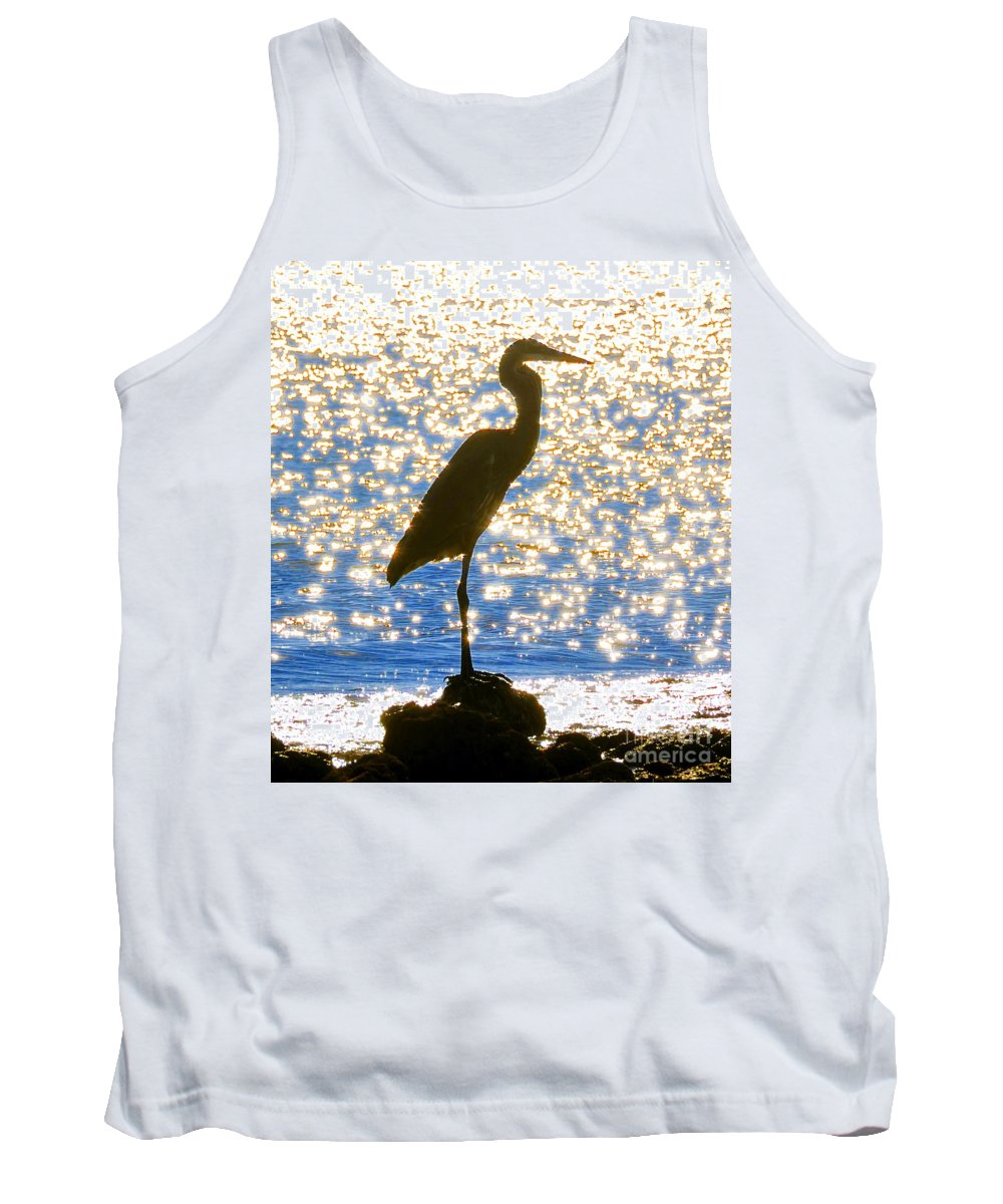 Egret Tank Top featuring the photograph Sparkling Egret by David Lee Thompson