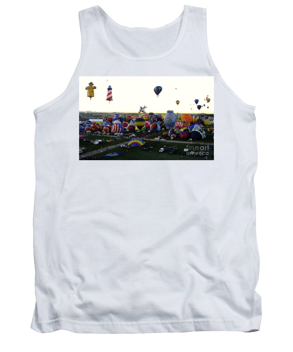 Hot Air Balloons Tank Top featuring the photograph Special Shapes by Mary Rogers