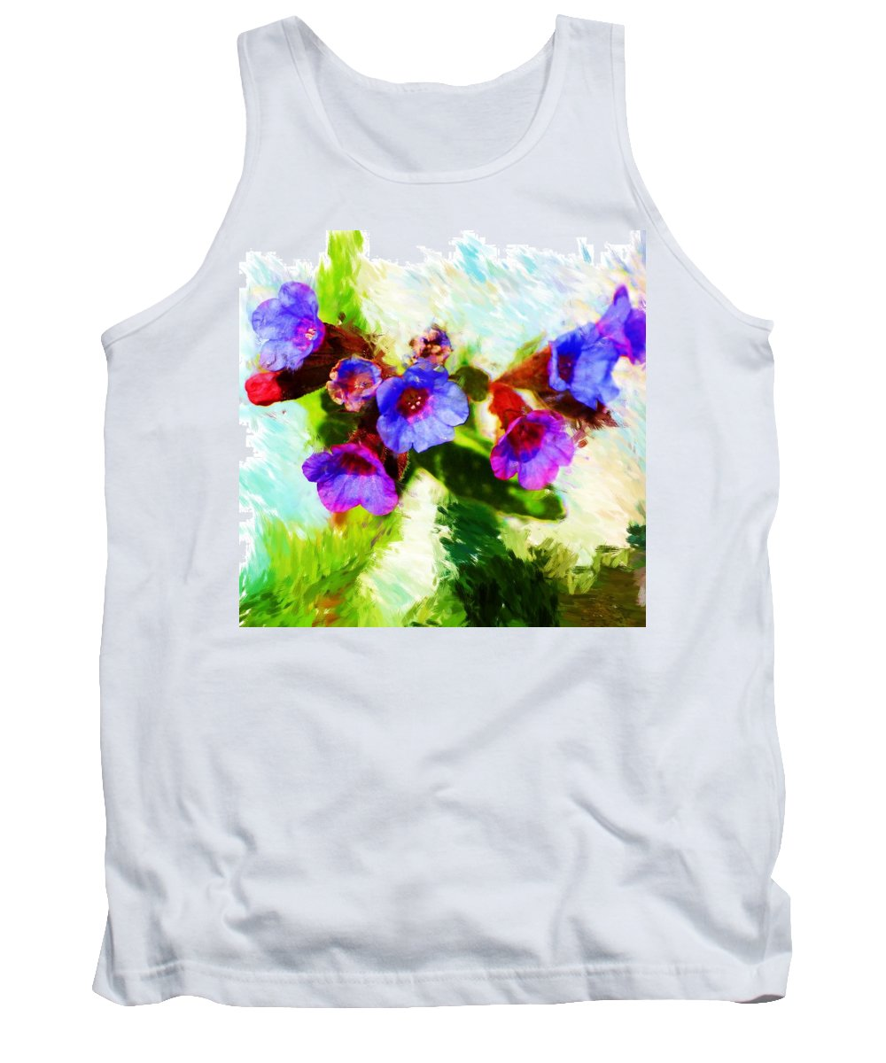 Abstract Tank Top featuring the photograph Speckled Trout The Flower by David Lane