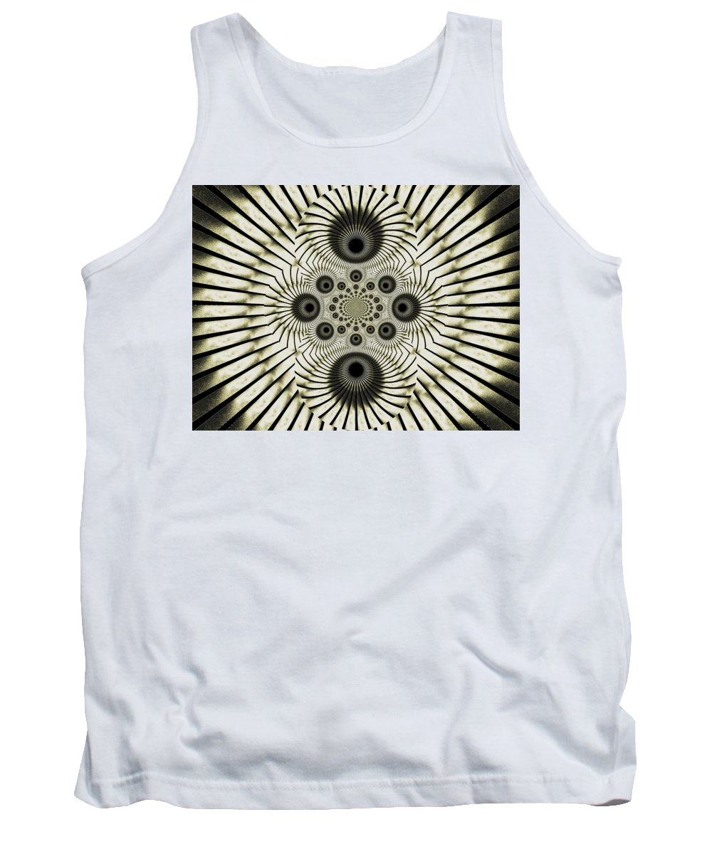 Spiral Tank Top featuring the digital art Spiral Eyes by Charleen Treasures