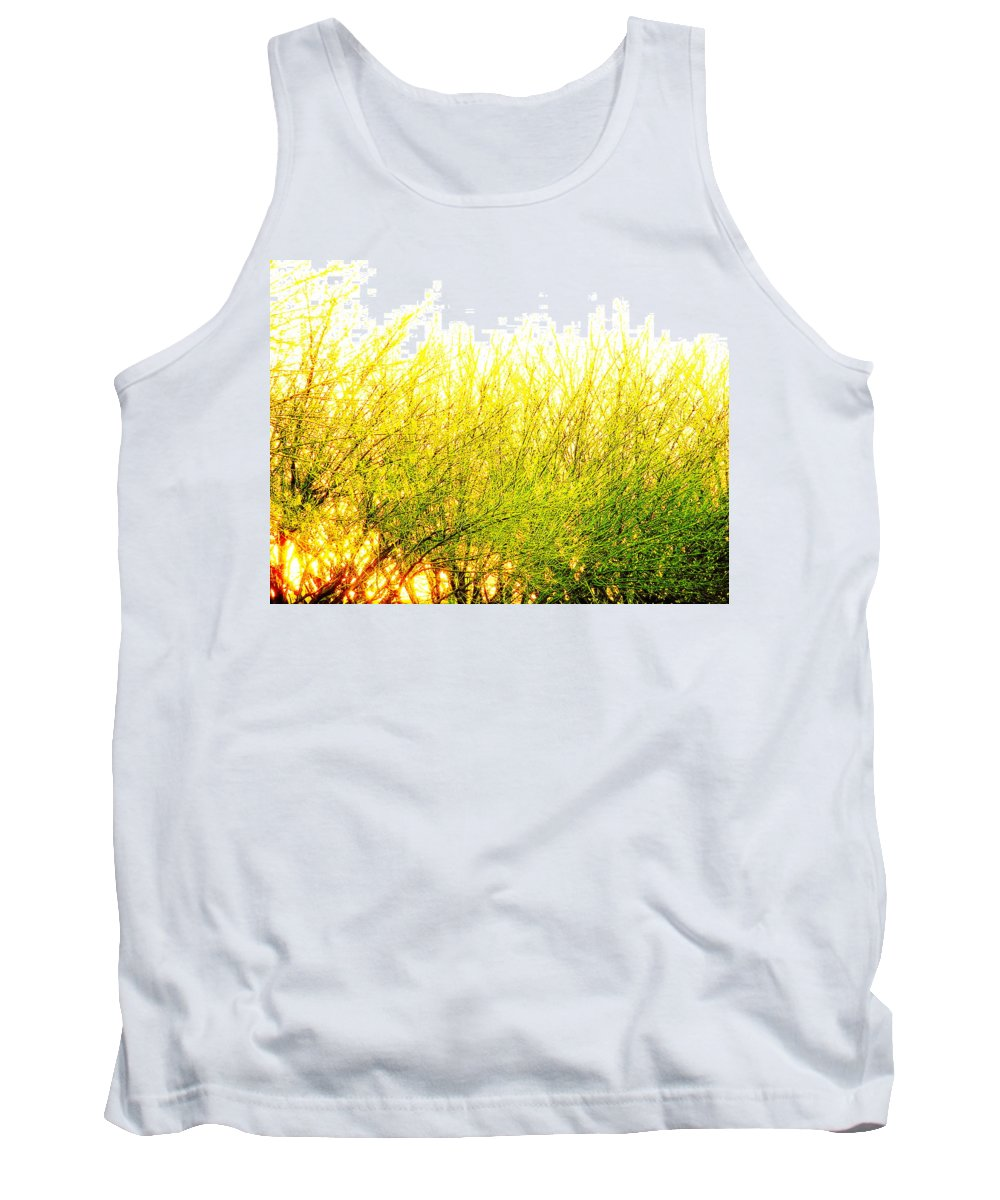 Splatter Tank Top featuring the photograph Yellow Splatter by M Pace