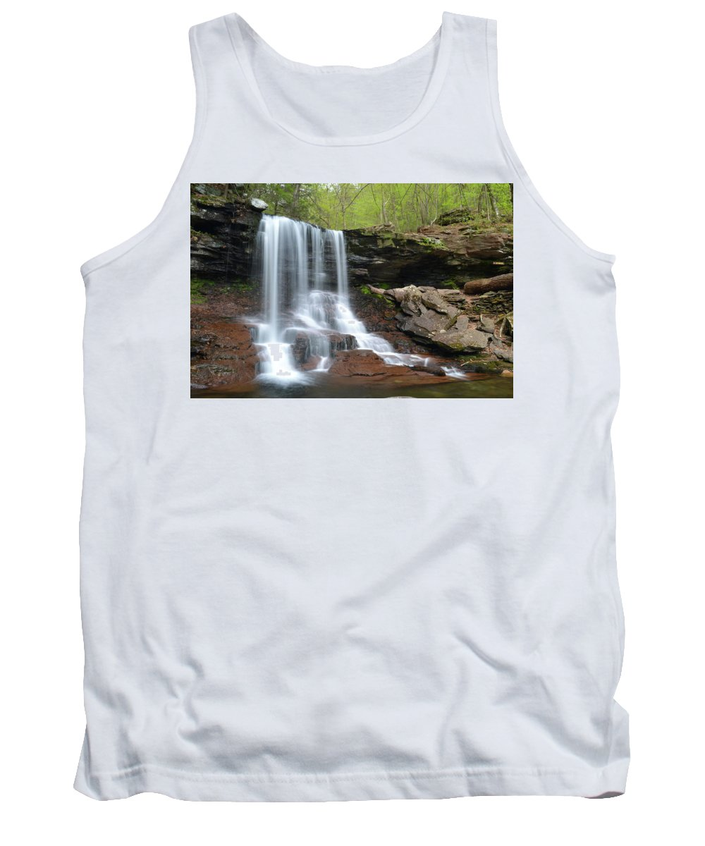 Phil Levee Tank Top featuring the photograph Spring At B. Reynolds Falls by Philip LeVee