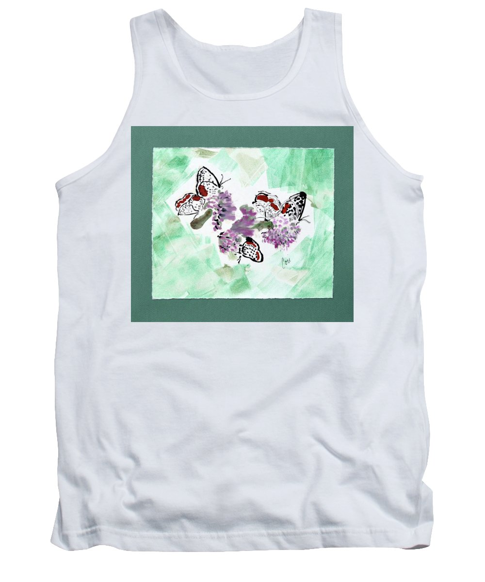 Spring Tank Top featuring the mixed media Spring Fever by Cori Solomon