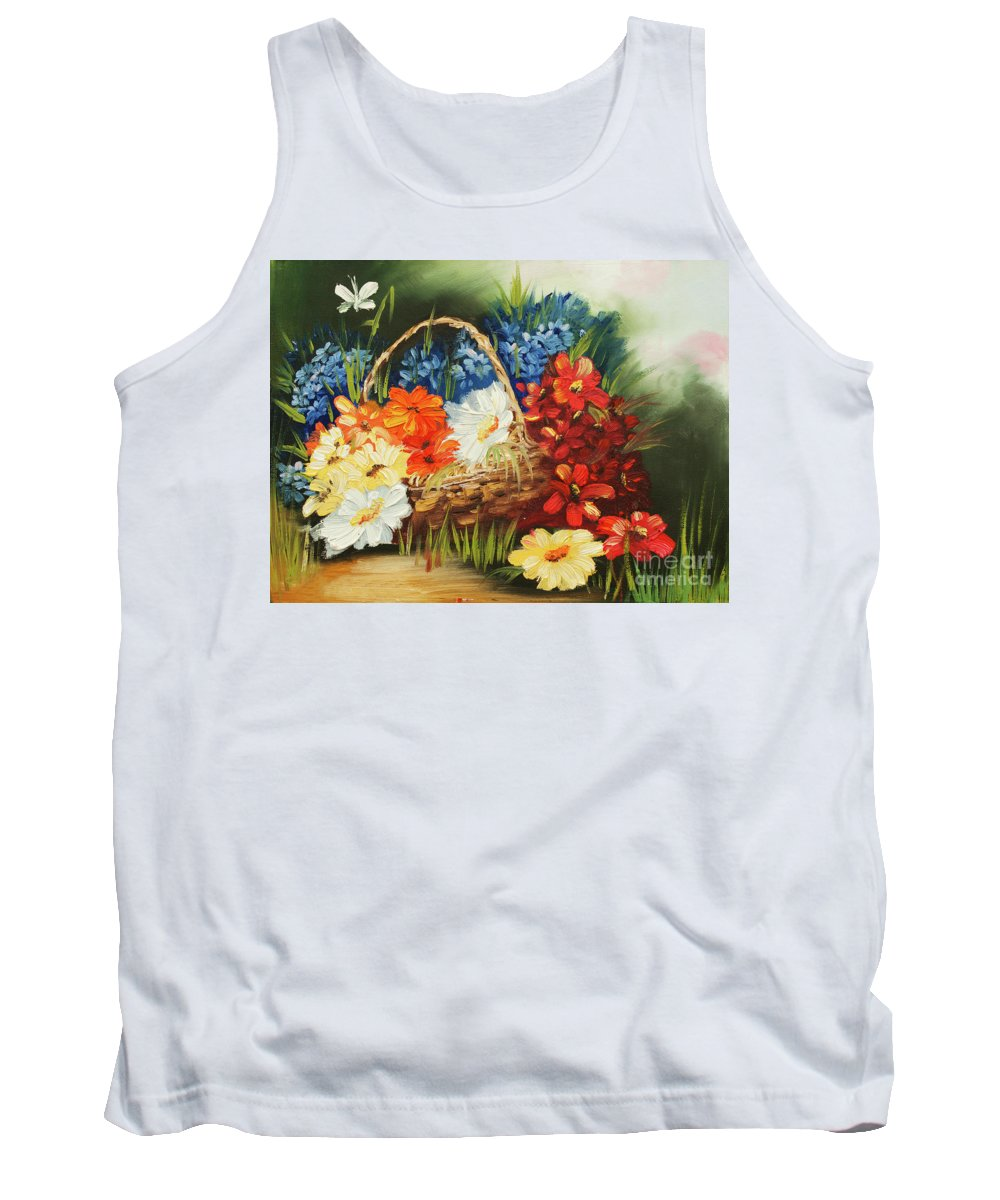 Original Tank Top featuring the painting Spring Mood by Kristian Leov