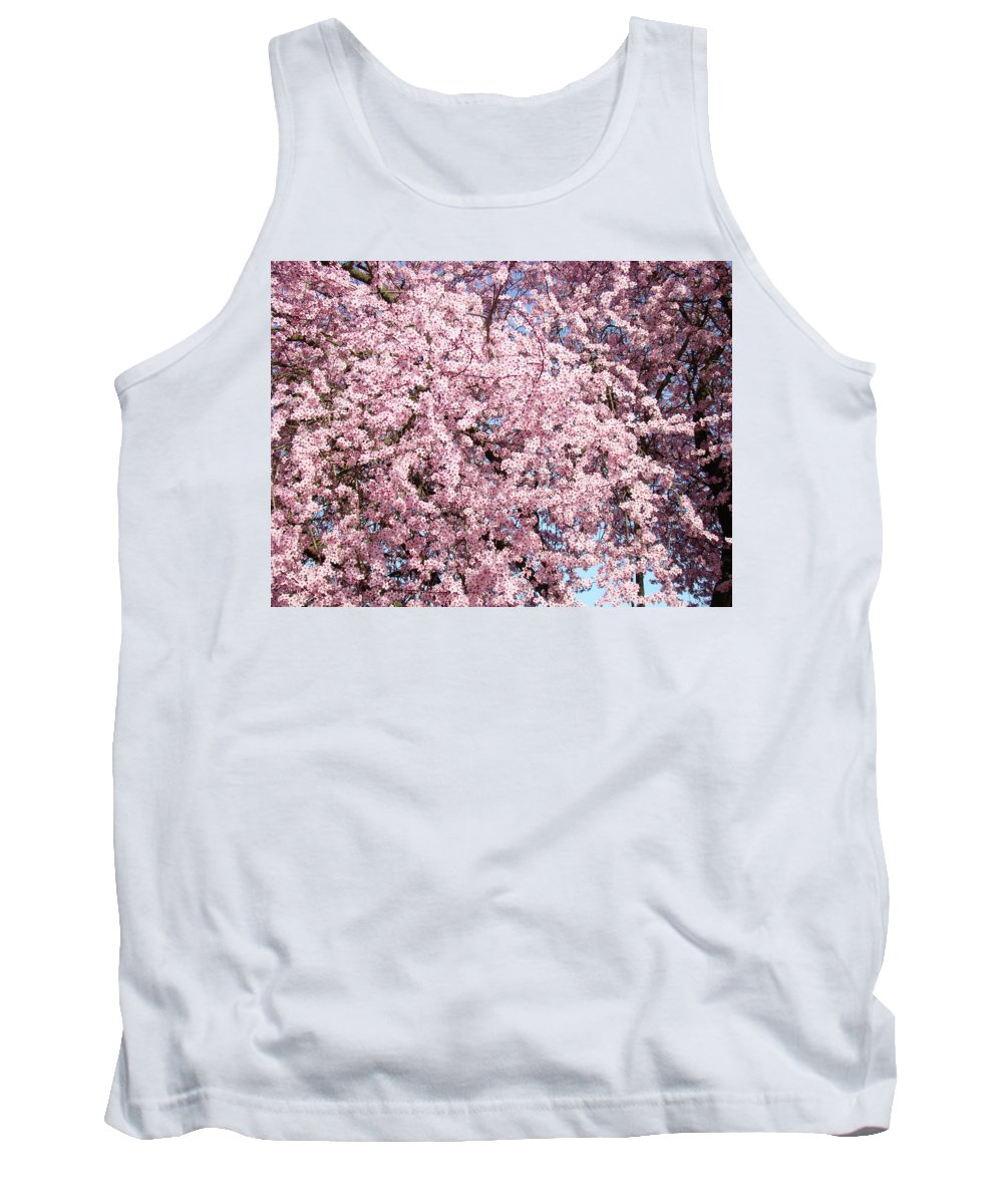 Tree Tank Top featuring the photograph Spring Trees Art Prints Pink Springtime Blossoms Baslee Troutman by Baslee Troutman