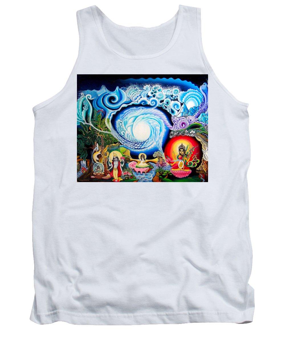 Spirituality Tank Top featuring the painting Sri Hridaya Darpana-the Mirror Of The Heart by Padmananda