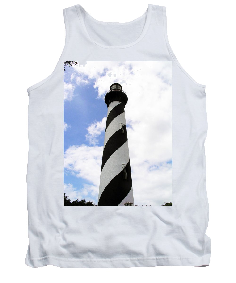 Lighthouse; Light; House; Keeper; St. Augustine; Florida; Coast; Shine; Fog; Storms; U.s. Coast Guar Tank Top featuring the photograph St. Augustine Light by Allan Hughes