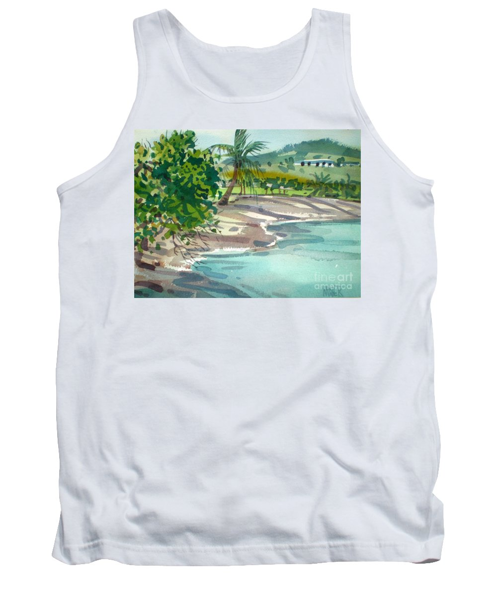 St. Croix Tank Top featuring the painting St. Croix Beach by Donald Maier