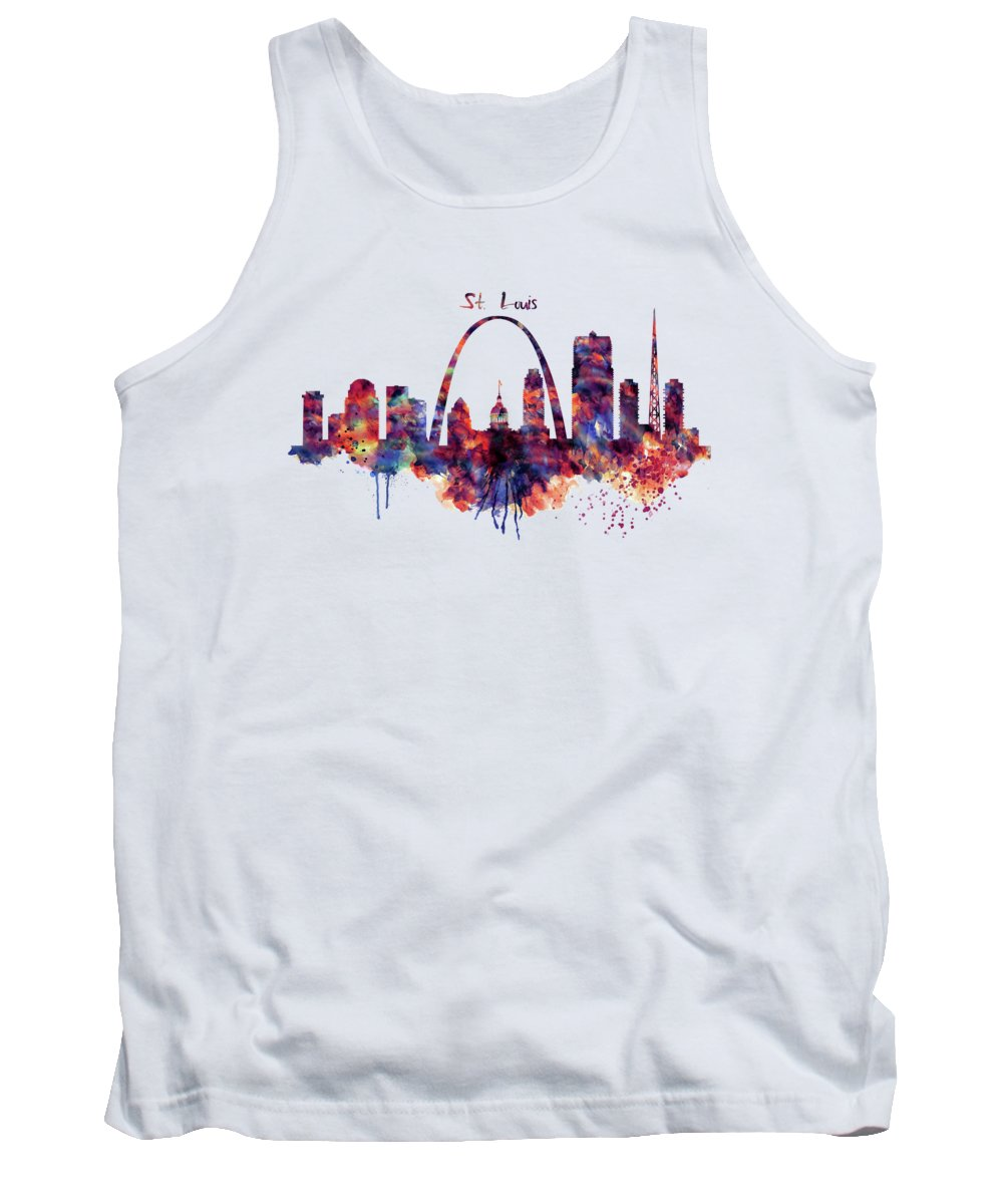 Gateway Arch Paintings Tank Tops