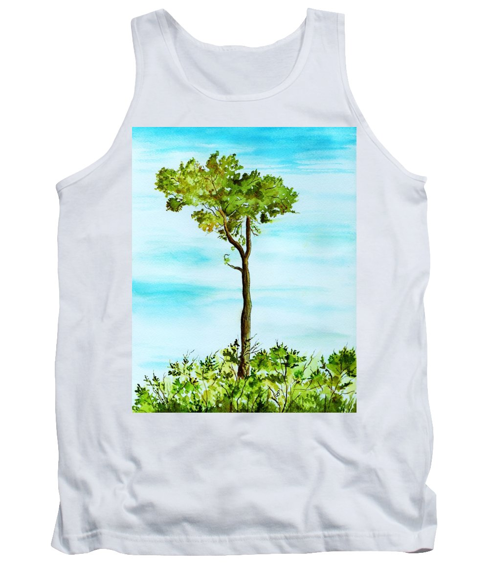 Landscape Tank Top featuring the painting Standing Alone by Brenda Owen