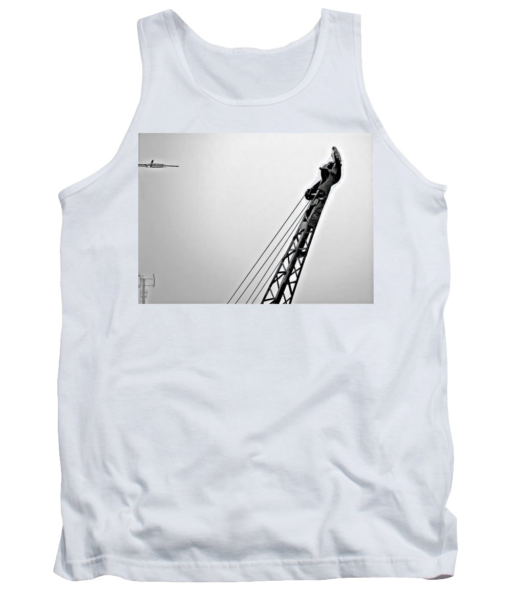 Hawk Tank Top featuring the photograph Stare Contest by Steve Harrington