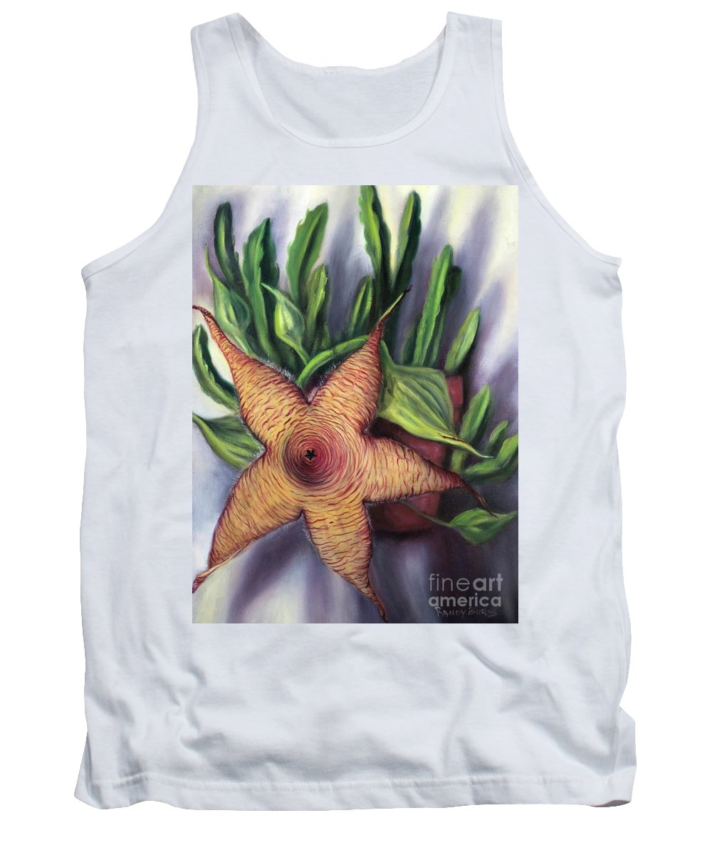 Starfish Tank Top featuring the painting Starfish Cactus by Randy Burns
