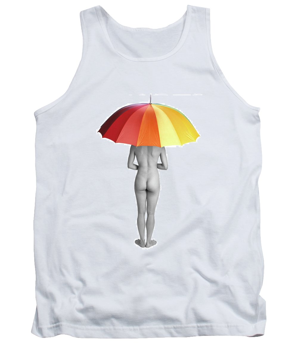 Umbrella Tank Top featuring the photograph Cool And Dry by Herman Robert