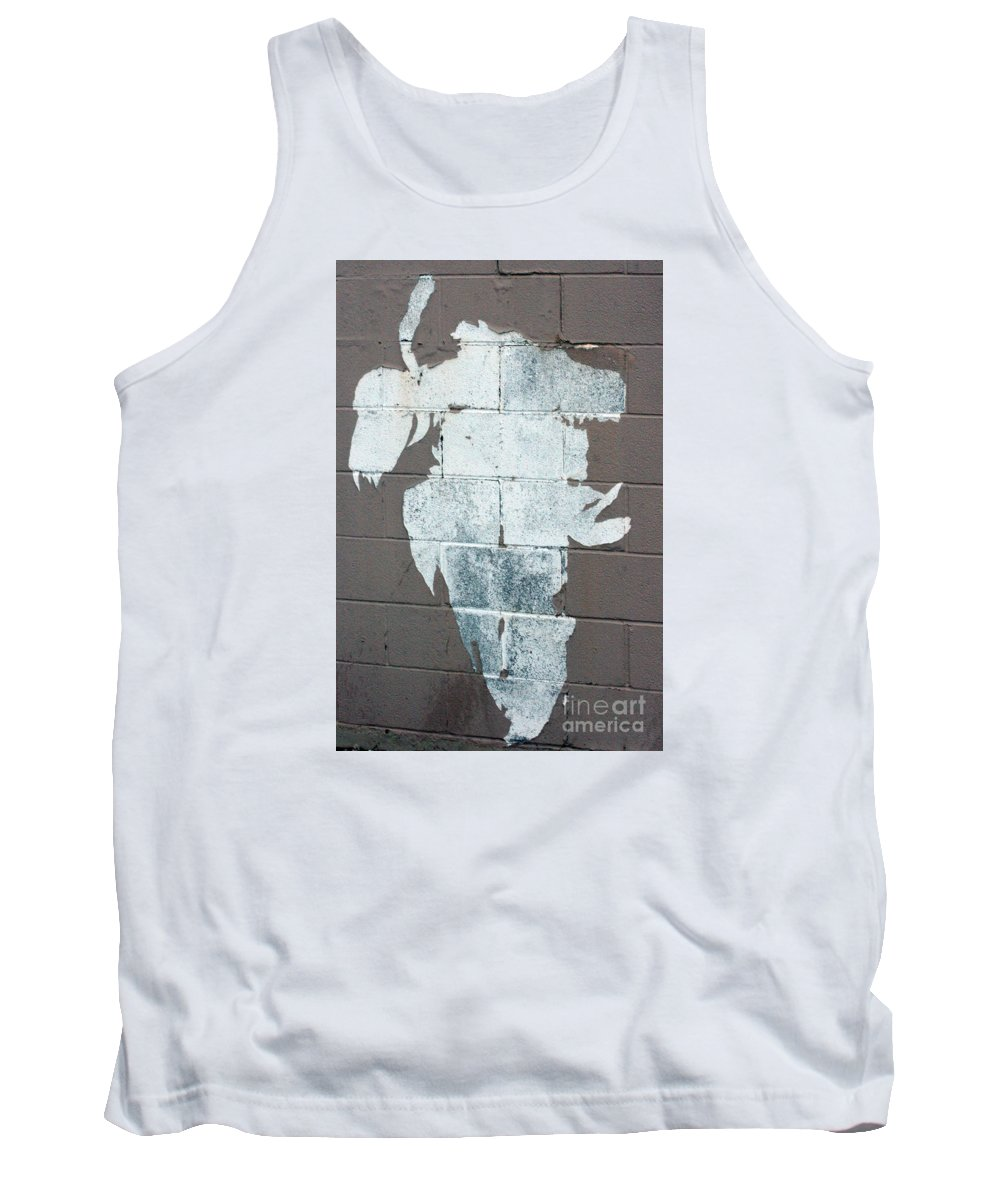 Steer Tank Top featuring the photograph Steer Skull Abstract by Robert Smitherman