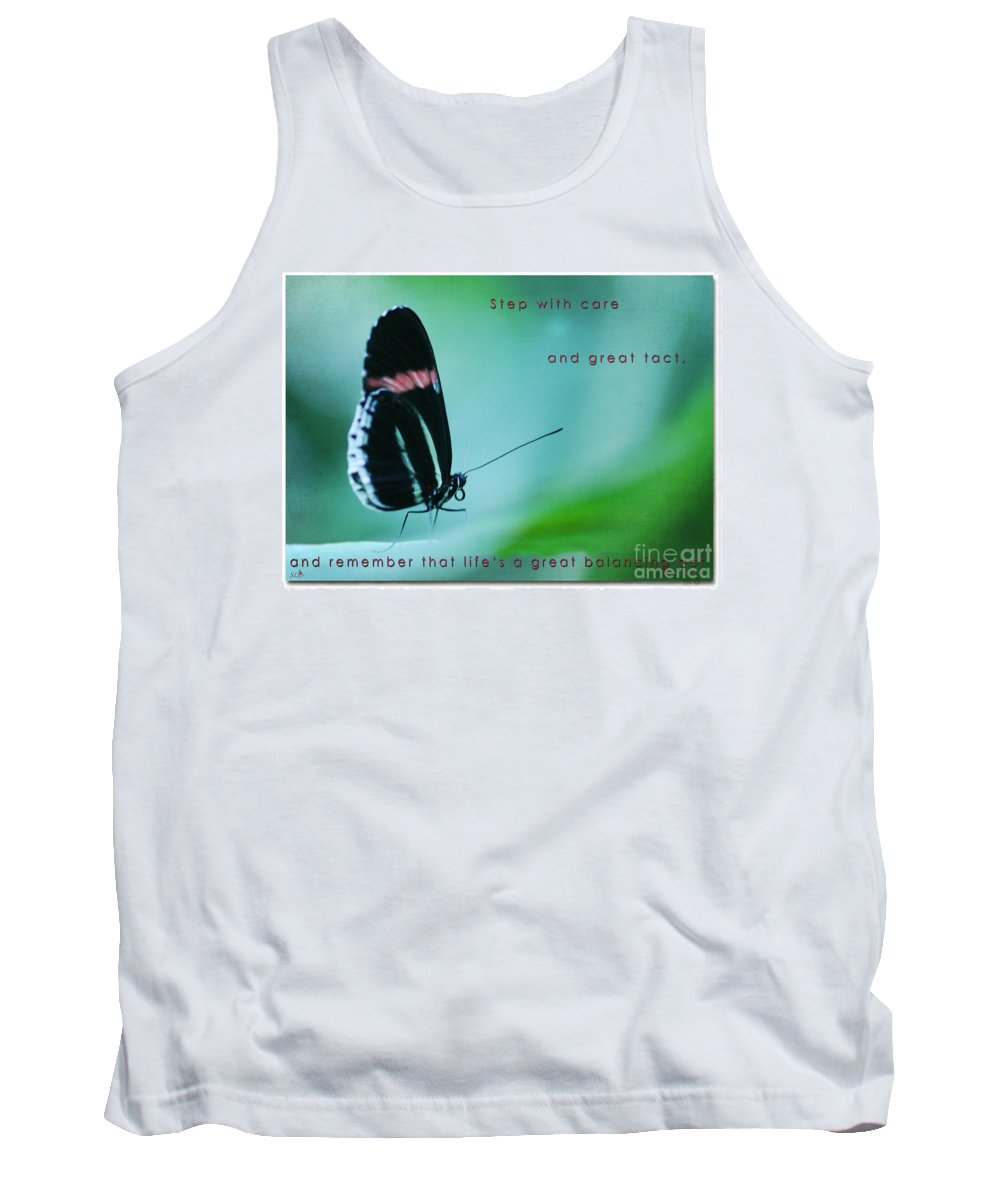 Butterfly Tank Top featuring the photograph Step With Care by Sandra Clark