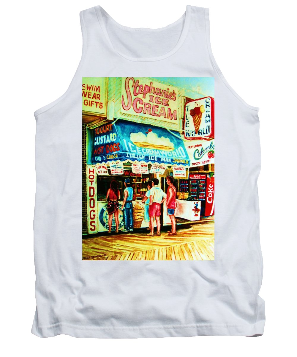 Children Tank Top featuring the painting Stephanies Icecream Stand by Carole Spandau
