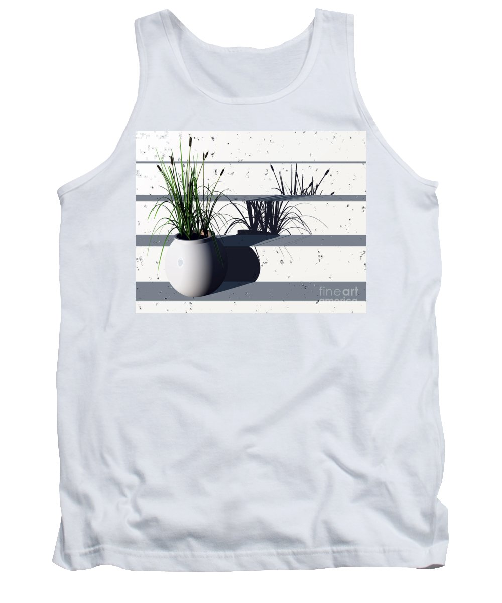 Steps Tank Top featuring the digital art Steps by Richard Rizzo