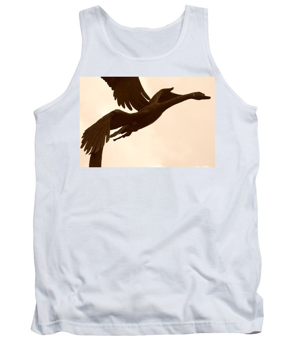 Sepia Tank Top featuring the photograph Stone Birds by Rob Hans