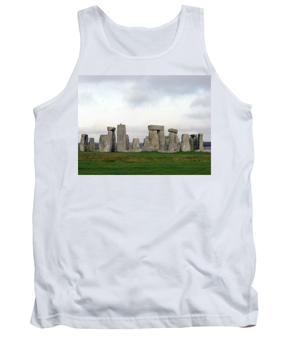 Stonehenge Tank Top featuring the photograph Stonehenge by Amanda Barcon