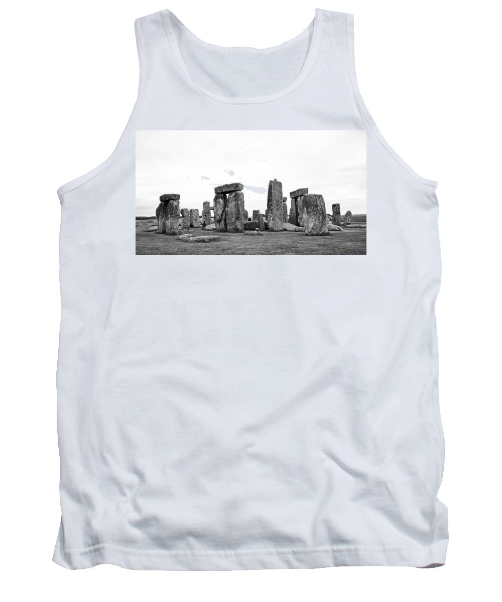 Stonehenge Tank Top featuring the photograph Stonehenge by Bob Kemp