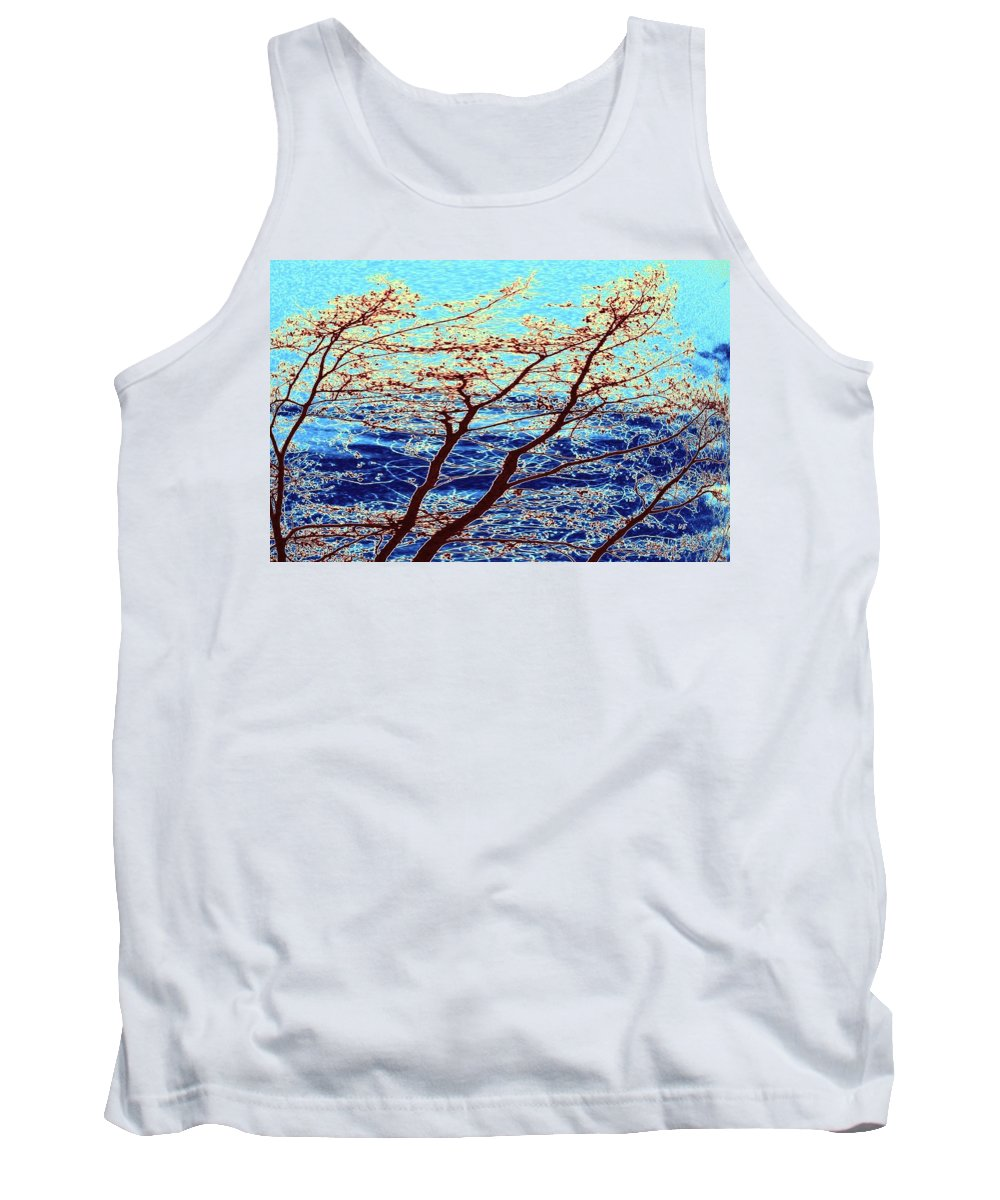 Trees Tank Top featuring the digital art Stormy Weather by Will Borden