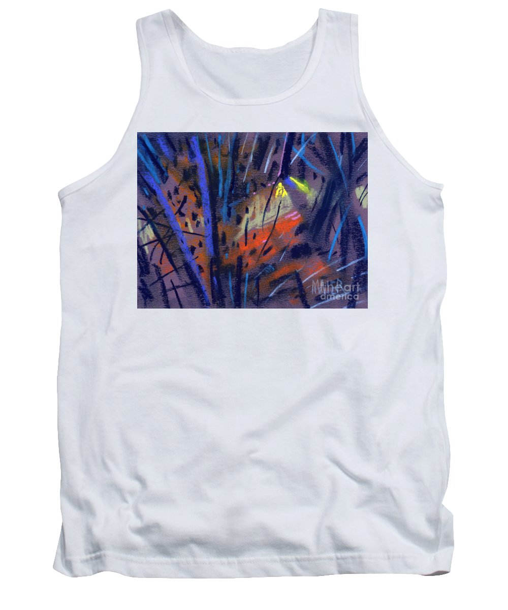 Abstract Tank Top featuring the drawing strange Lights by Donald Maier