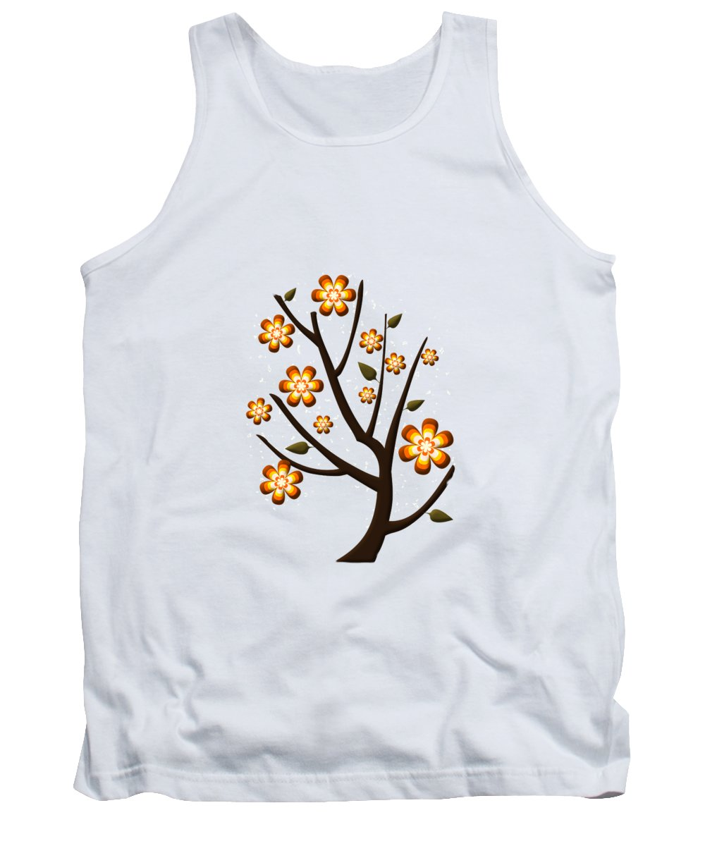 Greeting Card Tank Top featuring the digital art Strange Season by Anastasiya Malakhova
