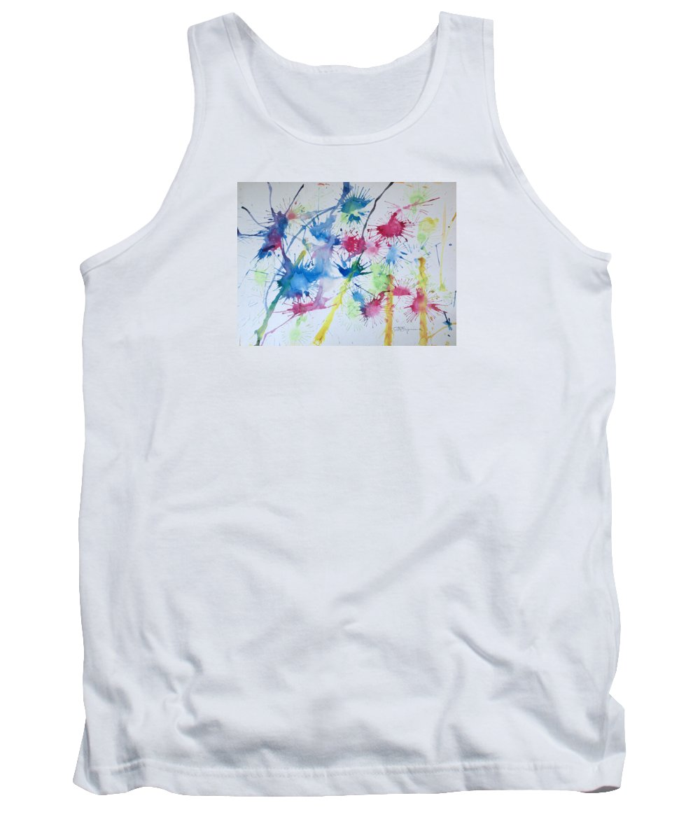 Straw Blown Painting Tank Top featuring the painting Straw Blown by J R Seymour