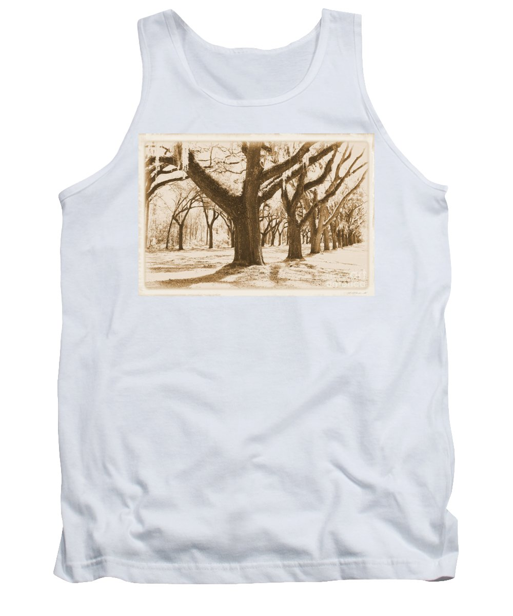 Sepia Tank Top featuring the photograph Strong And Proud In The South - Old World by Carol Groenen