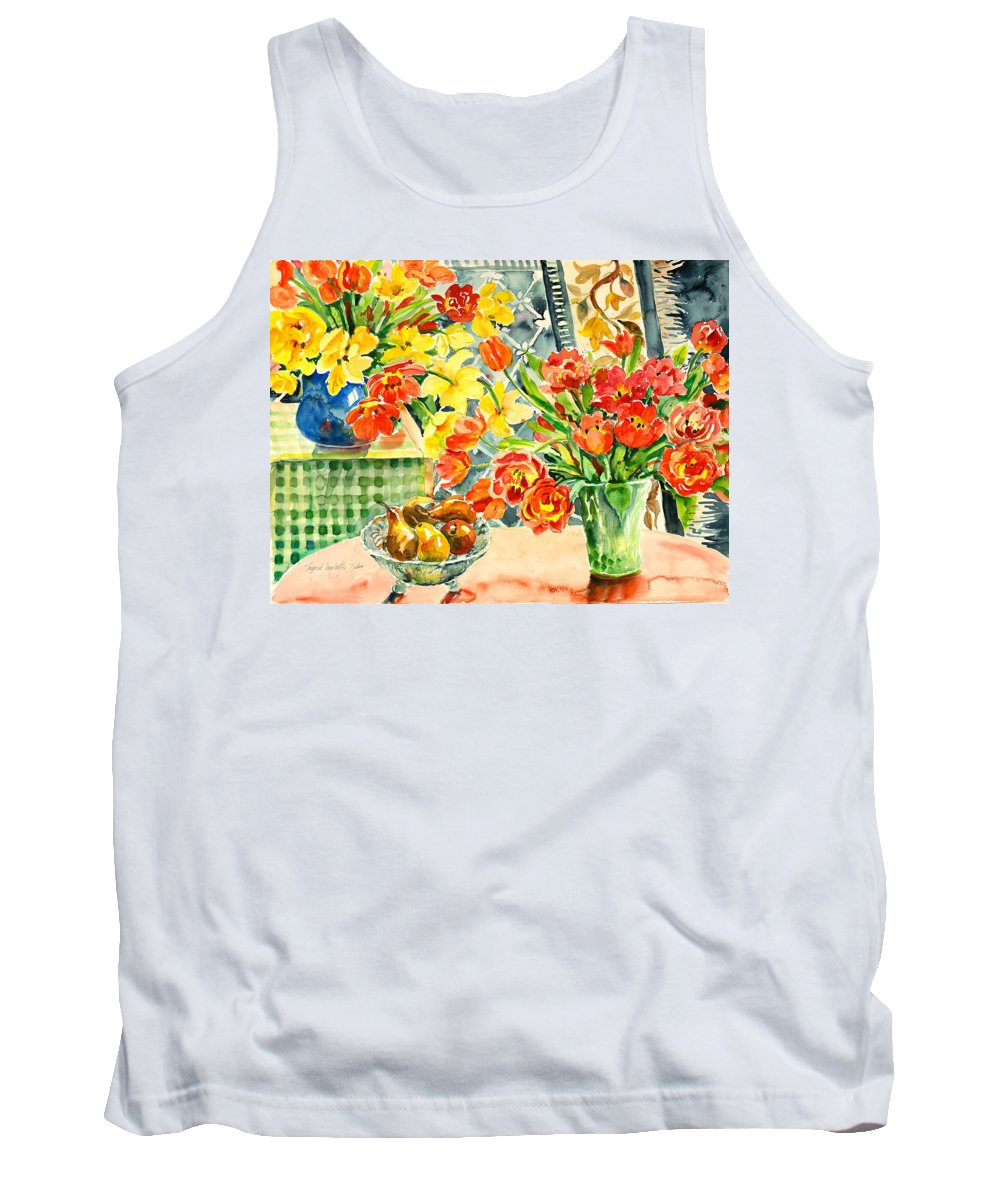 Watercolor Tank Top featuring the painting Studio Still Life by Alexandra Maria Ethlyn Cheshire