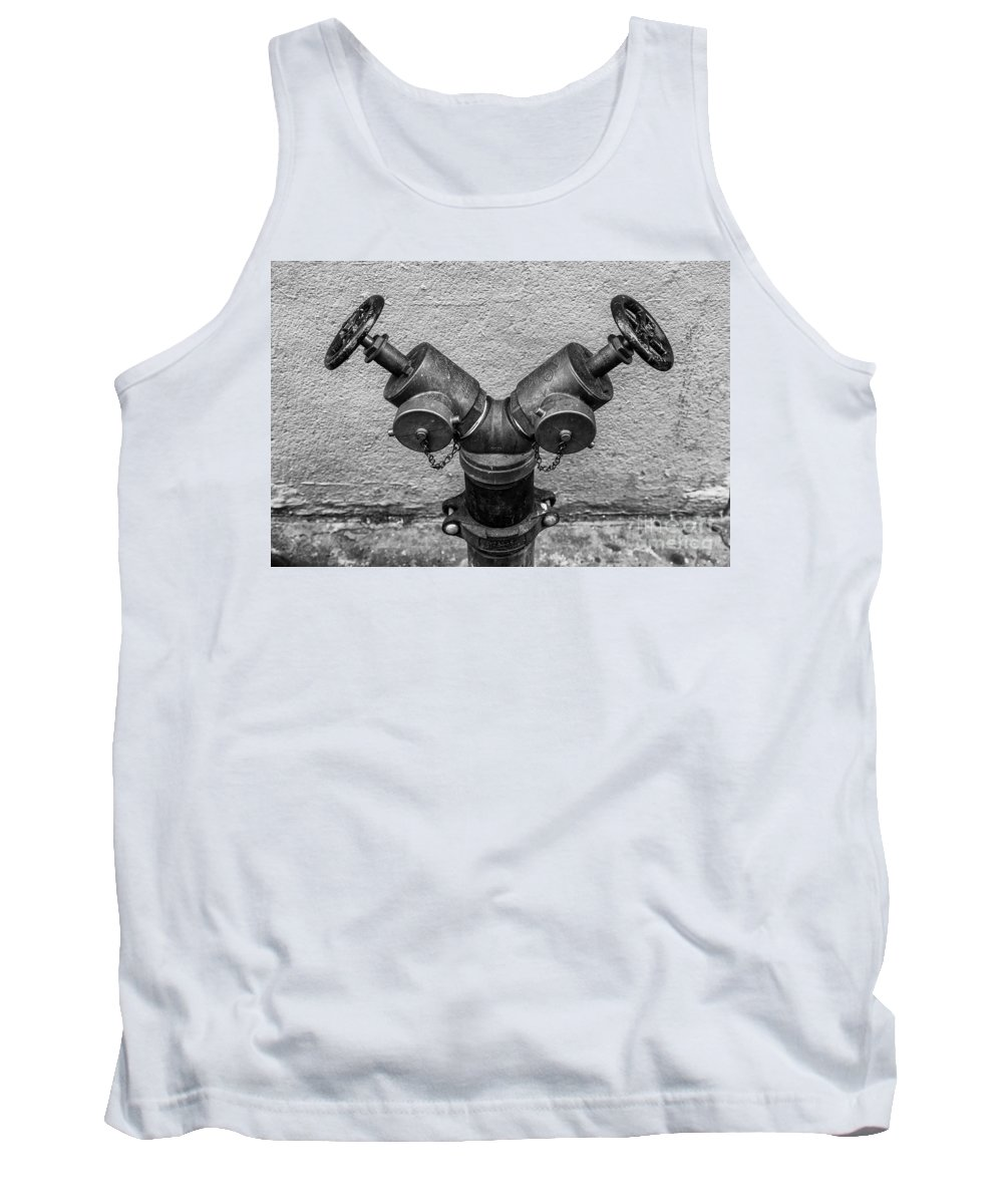 Symmetry Tank Top featuring the photograph Stylish Stand Pipe by Edi Chen