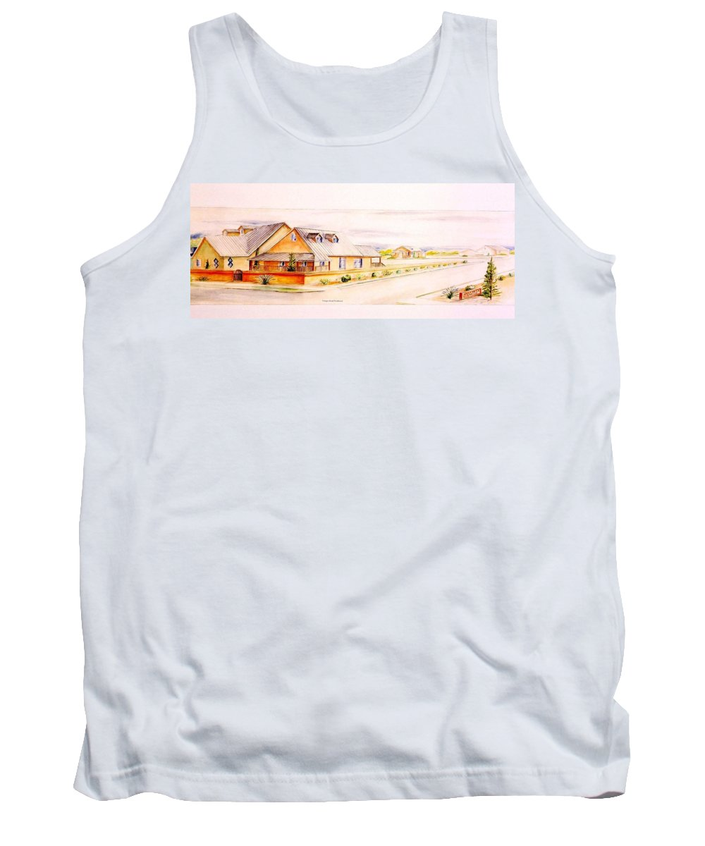 Architectural Renderings Tank Top featuring the painting Subdivison Rendering by Eric Schiabor