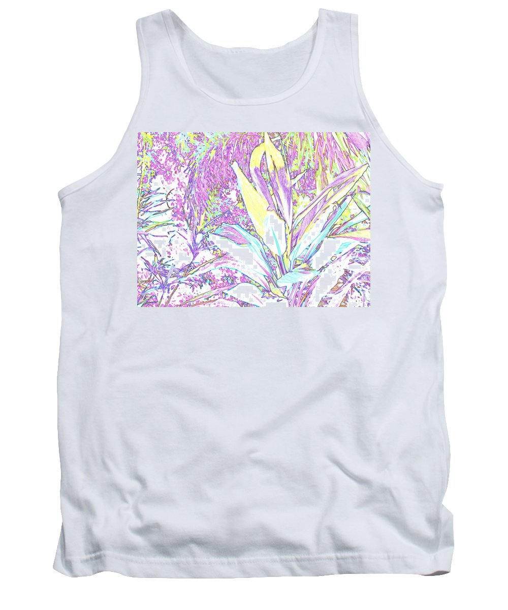 Abstract Tank Top featuring the photograph Subtle Leaf by Ian MacDonald