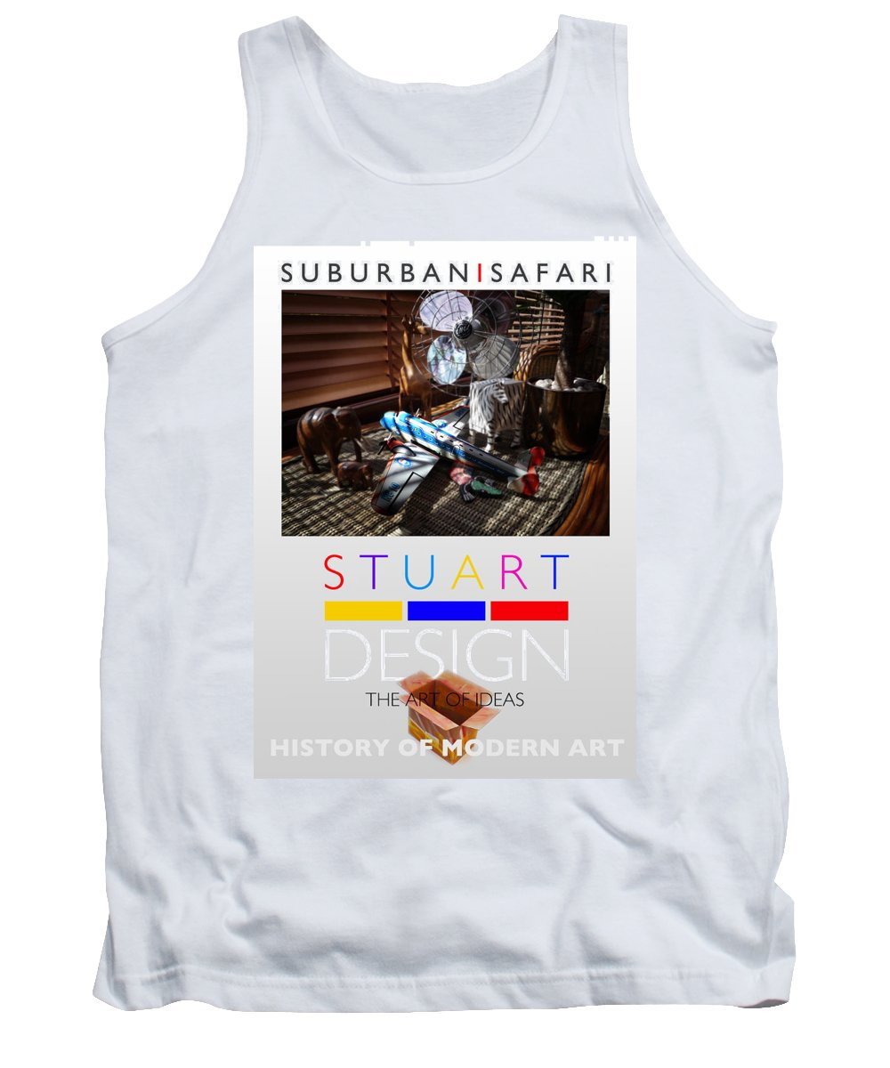 De Stijl Tank Top featuring the photograph Suburban Safari Poster by Charles Stuart
