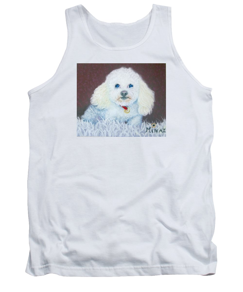 Dog Tank Top featuring the painting Such A Charm by Minaz Jantz