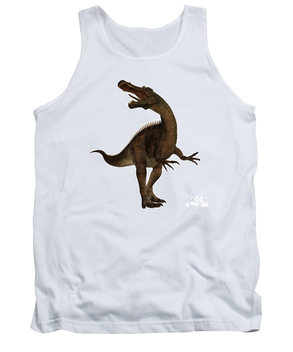 Suchomimus Tank Top featuring the painting Suchimimus Profile by Corey Ford
