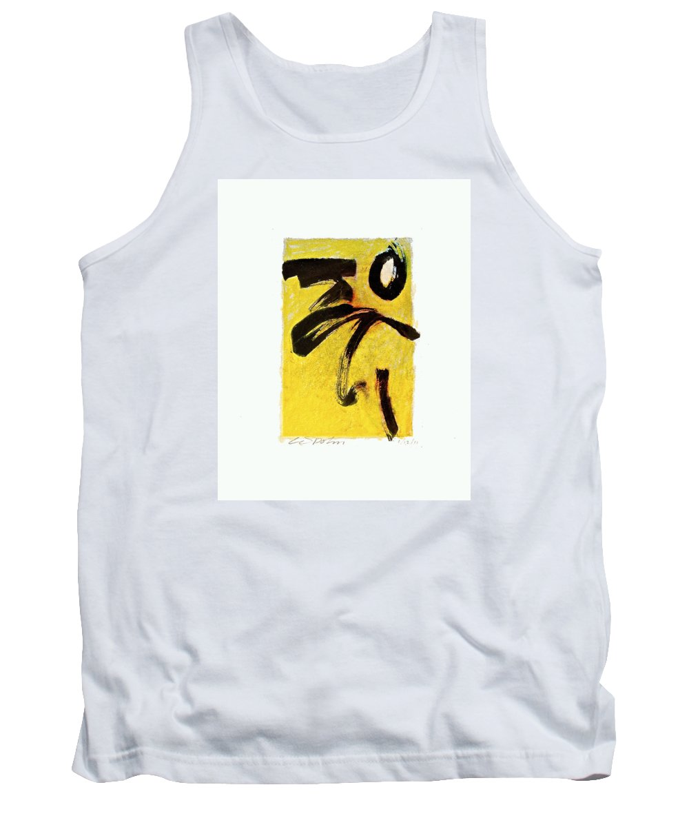 Abstract Tank Top featuring the painting Sulfur Bath --start- by Cliff Spohn