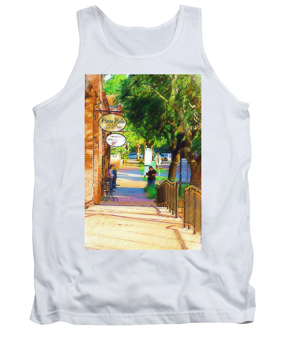 Street Tank Top featuring the photograph Summerville Sc by Donna Bentley