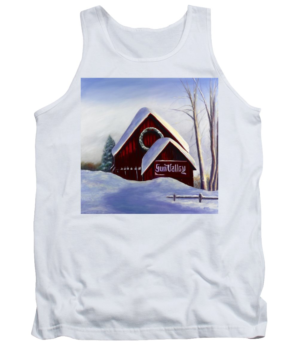 Landscape Tank Top featuring the painting Sun Valley 3 by Shannon Grissom