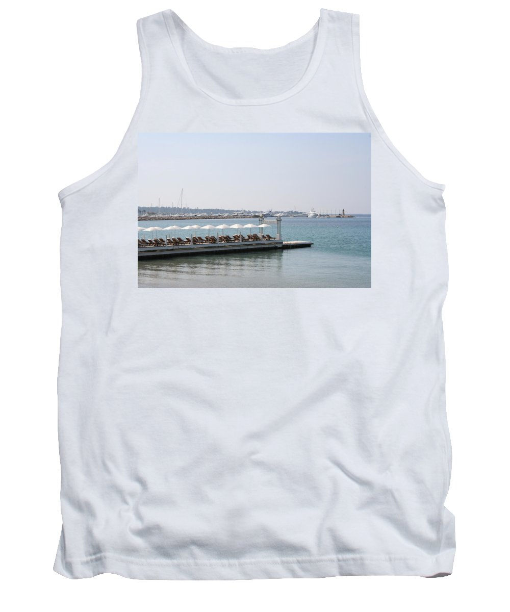 Sunbed Tank Top featuring the photograph Sunbathing In A Row by Christiane Schulze Art And Photography